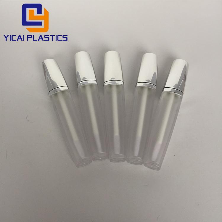 저렴한 뜨거운 판매 립글로스 튜브 6.5 미리리터 립 병 빈 화장품 용기 투명 여행 휴대용 투명 플라스틱 병 브러시