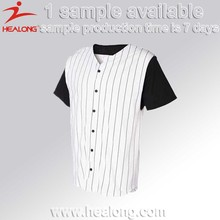 2017 Hot Wholesale Fashion Youth V Neck Dri Fit Striped Cheap Sublimated Button Down China Custom Blank Baseball Jerseys