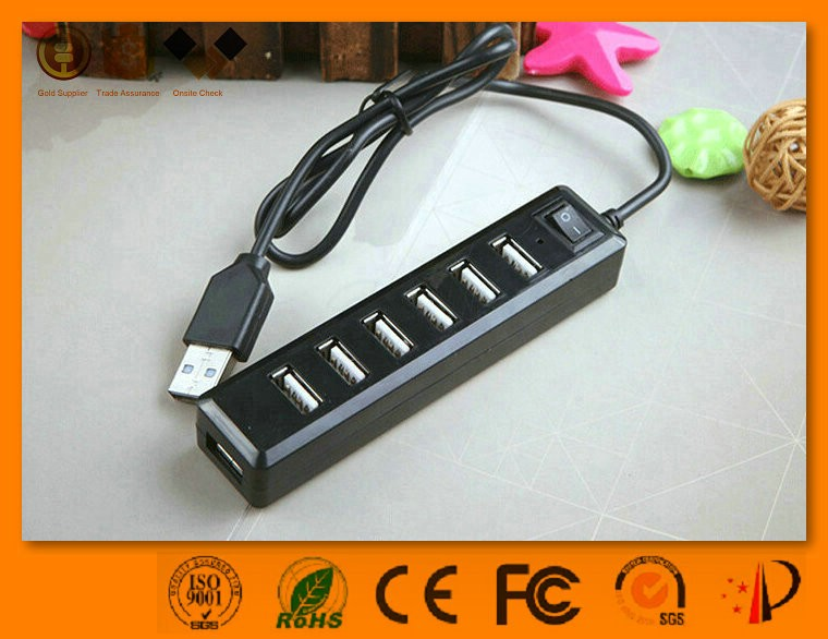 Hot-selling fast 7 ports usb 2.0 hub with long cable