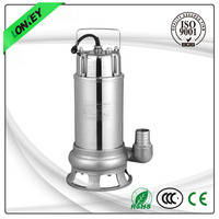 Transfer dirty and clean water stainless steel motor housing pumps