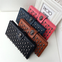 New products 2017 women Long wallet The rivet Lady Handbag in stock