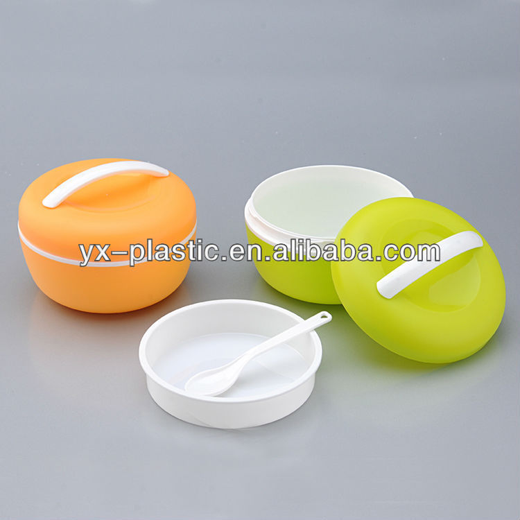 plastic carrying case with Divider & handle for snack lunch