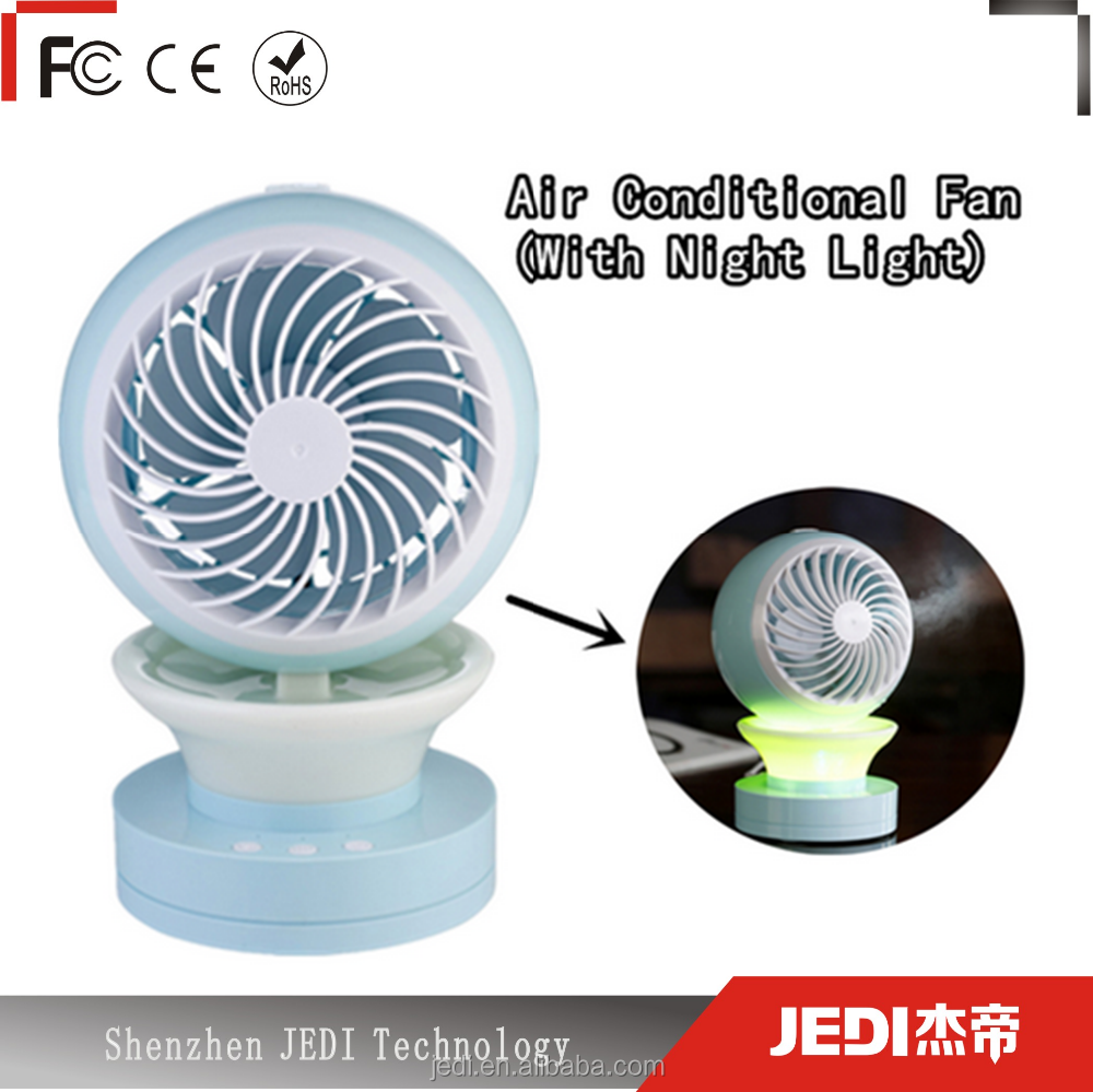 Mini humidifier fan outdoor water mist fan with led light_MO3809
