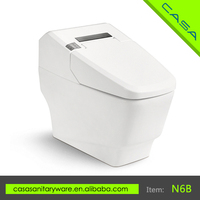 Hospital new design auto deodorizer LED screen smart toilet electric one piece intelligent toilet
