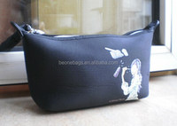 Printed Young Girl Empty Travel Cosmetic Bag