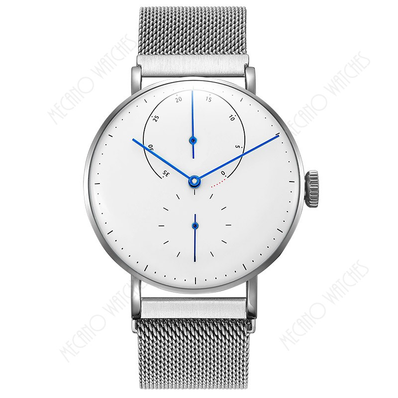 Simple Style OEM Logo Steel or Leather Band Japan Movt Quartz Stainless Steel Back Men Watches For Promotion