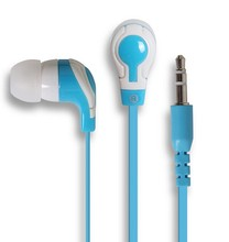 Stereo in-ear earphone with flat cable