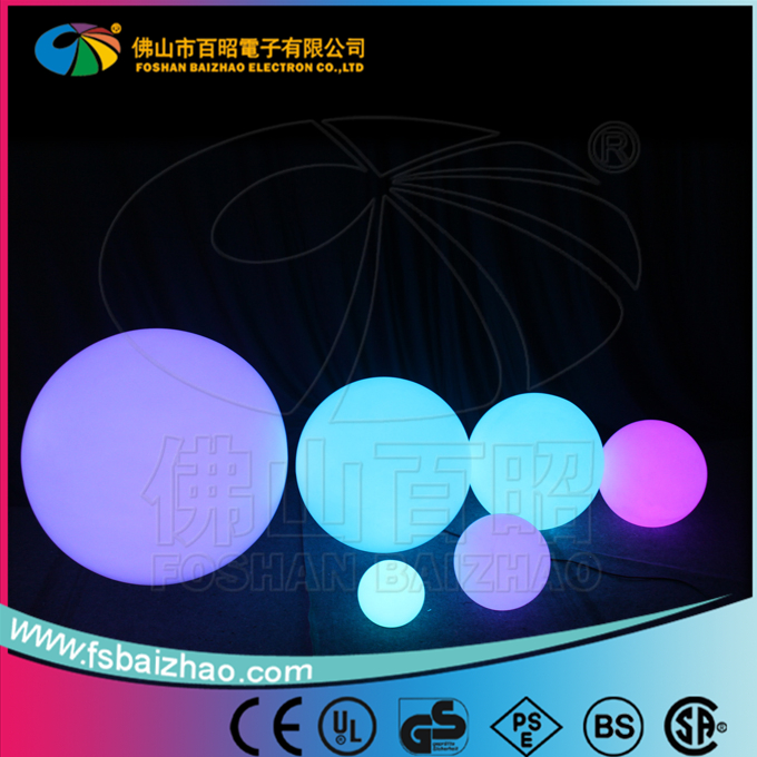 Alibaba express illuminated LED light up globe ball / outdoor waterproof LED sphere light ball