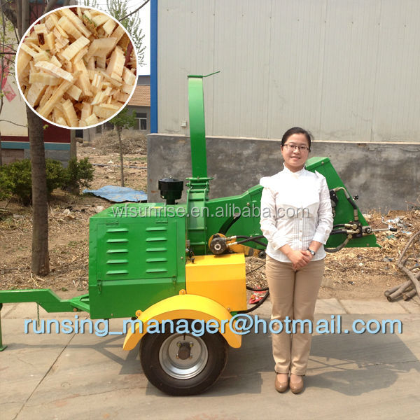 CE approved firewood processor DWC-22 8 inch wood chipper