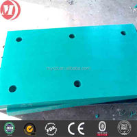10mm-50mm thick blue uhmwpe frontal fender pad,high density polyethylene anticollision protection plate