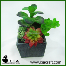 Small Mini Artificial Potted Plant Bonsai Succulents Garden for Wholeselling