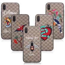 Phone Cover Wholesale Ultra Thin Good Make Embroidery Phone <strong>Case</strong> for iPhone X <strong>Case</strong> Luxury