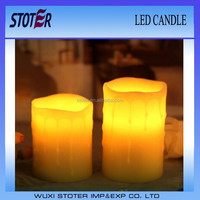 real wax luminara electic dripping taper candles