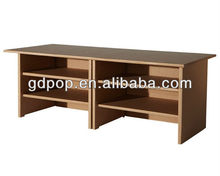 Eco-friendly A-PD156-8 corrugated cardboard furniture cupboard portable file storage desk