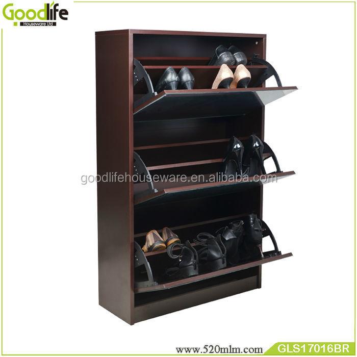 GLS17016wooden shoe cabinet mirror