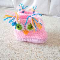 Manufactures wholesale fashion baby crochet wool shoes