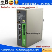 XAX482Alu OEM ODM customized laser cut bend weld sheet aluminum wifi docsis 3.0 cable modem Router enclosure