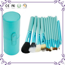 12pcs beauty needs professional makeup brush set free samples with cylinder box