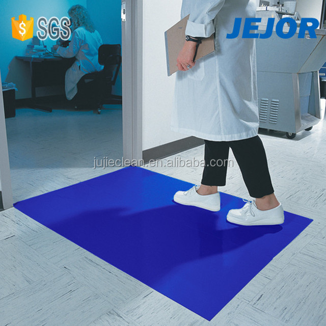 18''X45'' LDPE Blue Cleanroom ESD Sticky Floor Mat