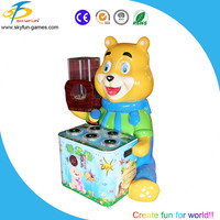 jerry and tom Dragonwin Coin Operated cute Candy Bear hitting hammer game machine for sport and amusement