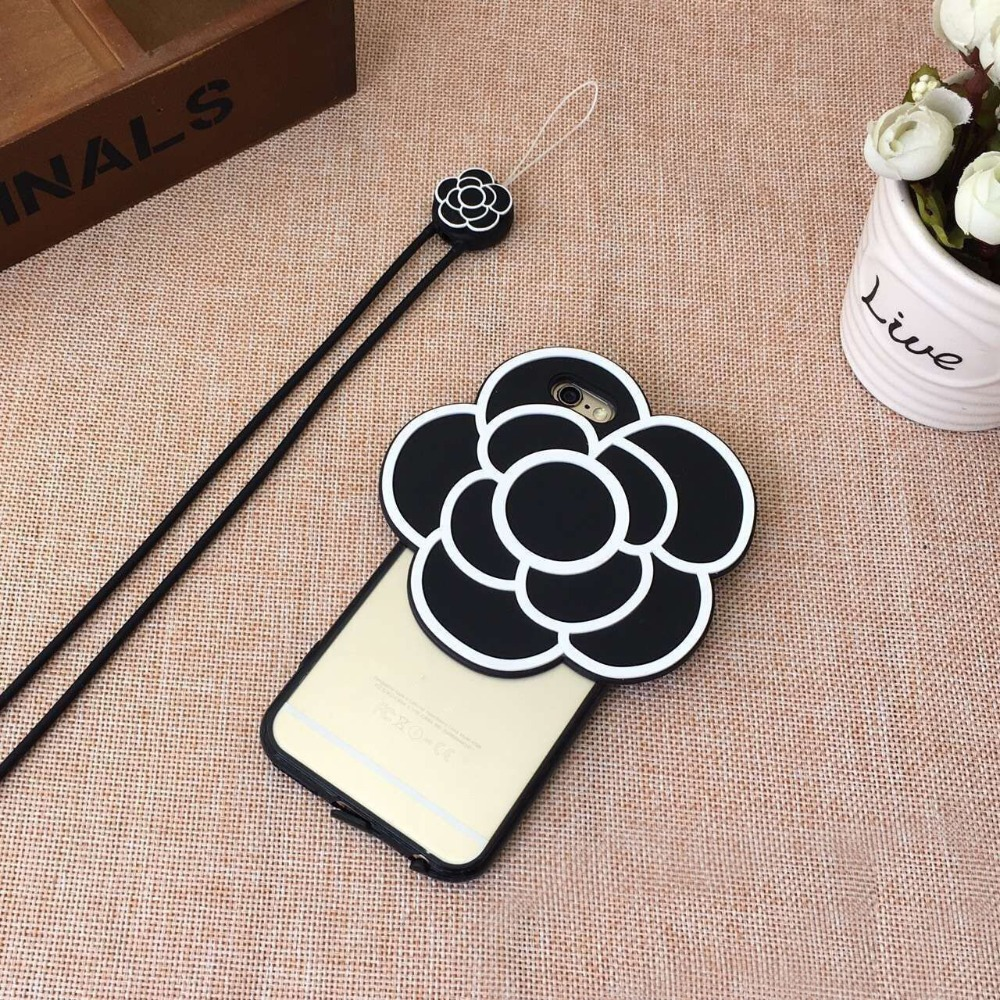 Cell Phone Accessories 3D Sublimation Case SIlicone Flower Back Cover For iPhone 6