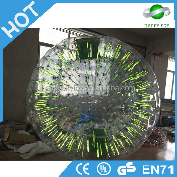 High quality!soccer light zorb ball,big light ball,pvc inflatable glitter ball