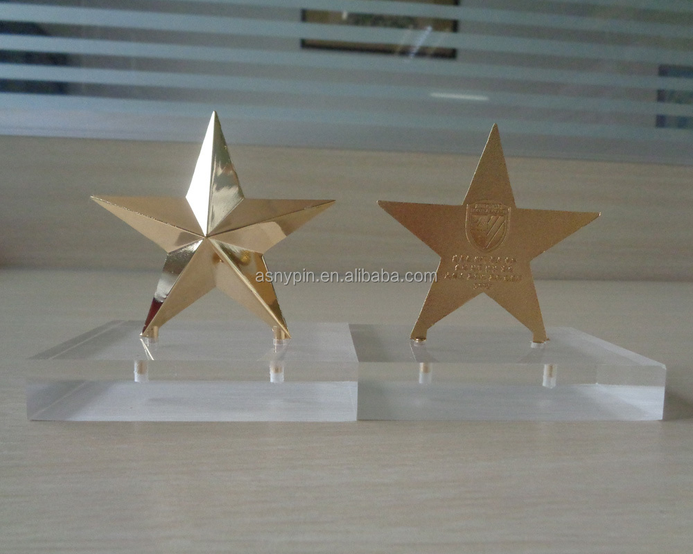 3D Star Shape Plaque With Acrylic Base For Football Club Members