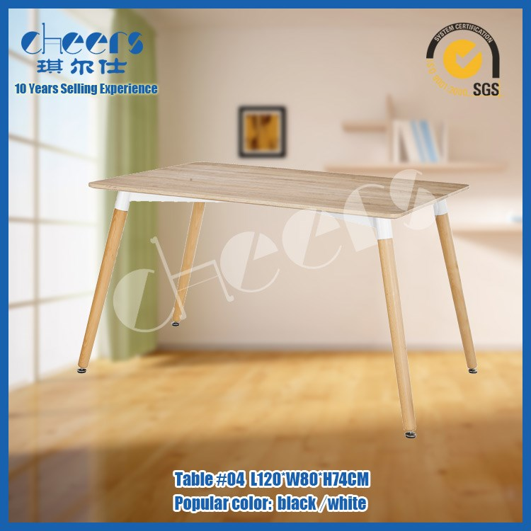 Wholesale MDF 4ft woodden leg school chairs school canteen table and chair cafeteria table and chairs
