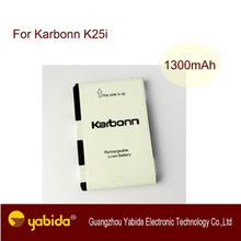 Production in China rechargeable Li-ion mobile battery cell phone batteries For Karbonn K25i 3.7V 1500mA