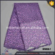 Emboridery double organza lace with sequins fashion ash high quality mikemaycall French