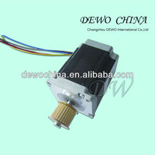 stepper motor with belt pulley, nema 23 step motor 18 degree professional manufacturer, CE ROHS.with good price