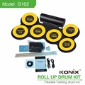 China Factory Portable Sillicon USB MIDI Drum Kit Roll Up Drum Kit Electronic Drum Kit for Kids