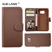Leather Flip Mobile Phone Case with Wallet Stand Card Back Cover Case for huawei p7