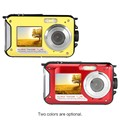 winait disposable waterproof digital camera with double screen/24mp camera digital
