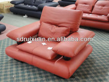 Modern Backrest up-down Function Leather sofa 410 (RED)