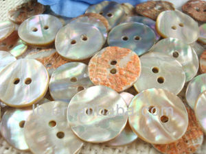 2 holes natrual ablone shell button