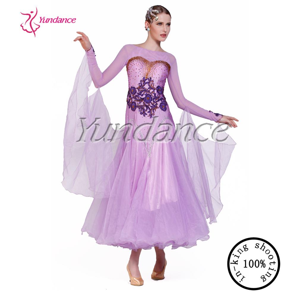 Modern dress light purple stage dance costumes 2016 modern dress light