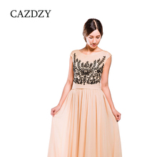 Hot selling casual sleeveless elegant evening gown dress