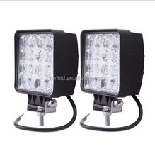 "12V 24V 4.5"" 48W Square LED Work Lamp spot/ flood 48 Watt Working LED Lights 4x4, boat lighting thick model"