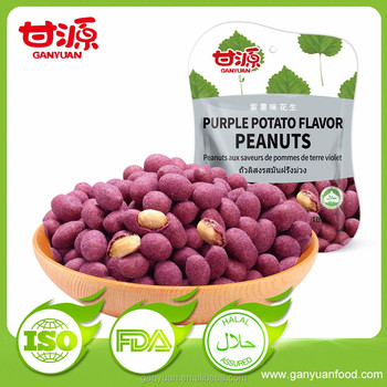 Healthy snacks purple potato flavor peanuts