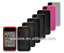 100% rell full carbon fiber cell phone case for iphone 4