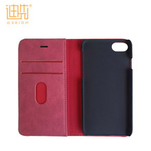 Many color available pu leather flip credit card holder 5 inch or customized protective mobile phone cover for huawei / iPhone