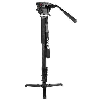 Kingjoy Factory Direct Selling Foldable 4 Sections Professional Monopod with Pan Head for Telescope