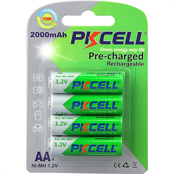 nimh aa 600mah 1.2v rechargeable battery