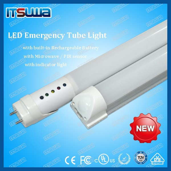 microwave sensor/emergency light led tube waterproof led batten light