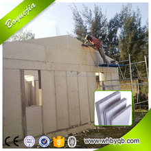 Light steel frame foam concrete sandwich panel prefabricated house villa