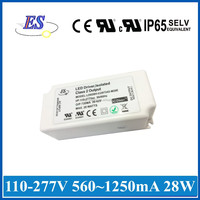 ES 28W High Power Constant Current Dimmable LED Driver with ELV Dimmer,UL CUL CE IP65