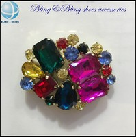 Wholesale acrylic and rhinestone beads shoe clips for woman flat shoes