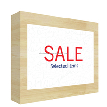 Wooden retail store promotion sale signage board