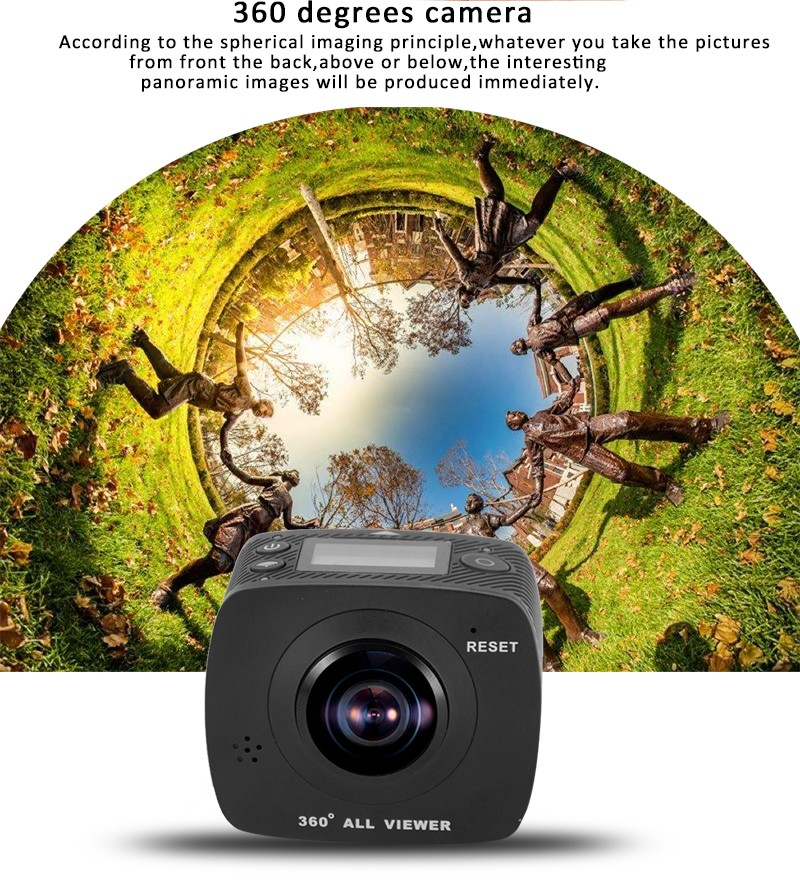 360 dual lense camera, 360 wifi dual lense camera, dual lense outdoor sport 360 camera